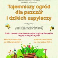 Pobierz: Plakat konkursu Tajemniczy ogród dla pszczół i dzikich zapylaczy